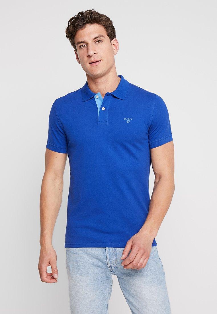 GANT - CONTRAST COLLAR - Polo shirt - stoned blue