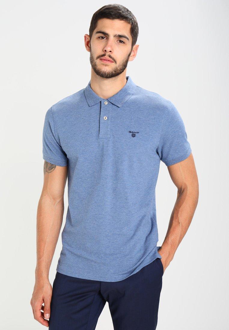 GANT - CONTRAST COLLAR - Poloshirt - denim blue melange