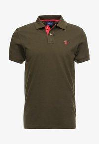 GANT - CONTRAST COLLAR RUGGER - Polo shirt - field green - 4