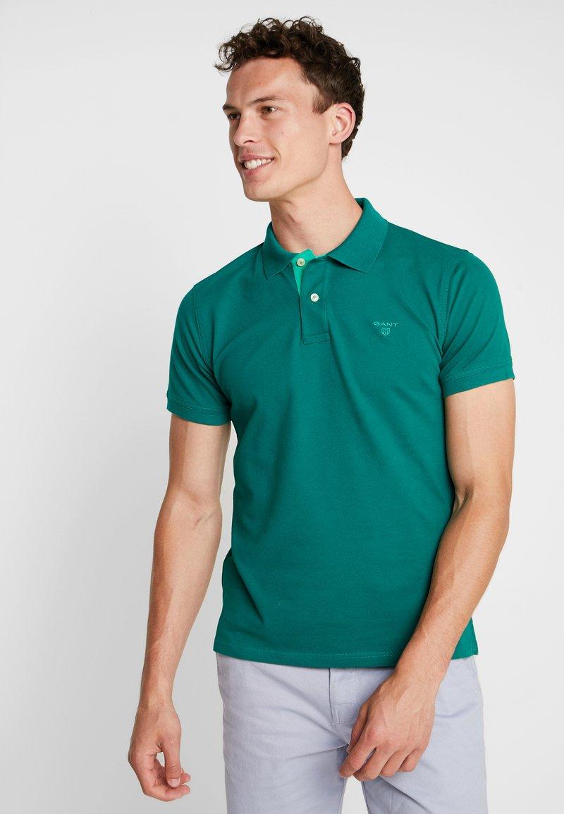 GANT - CONTRAST COLLAR - Poloshirt - ivy green