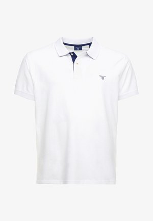 CONTRAST COLLAR RUGGER - Polo shirt - weiß/royal