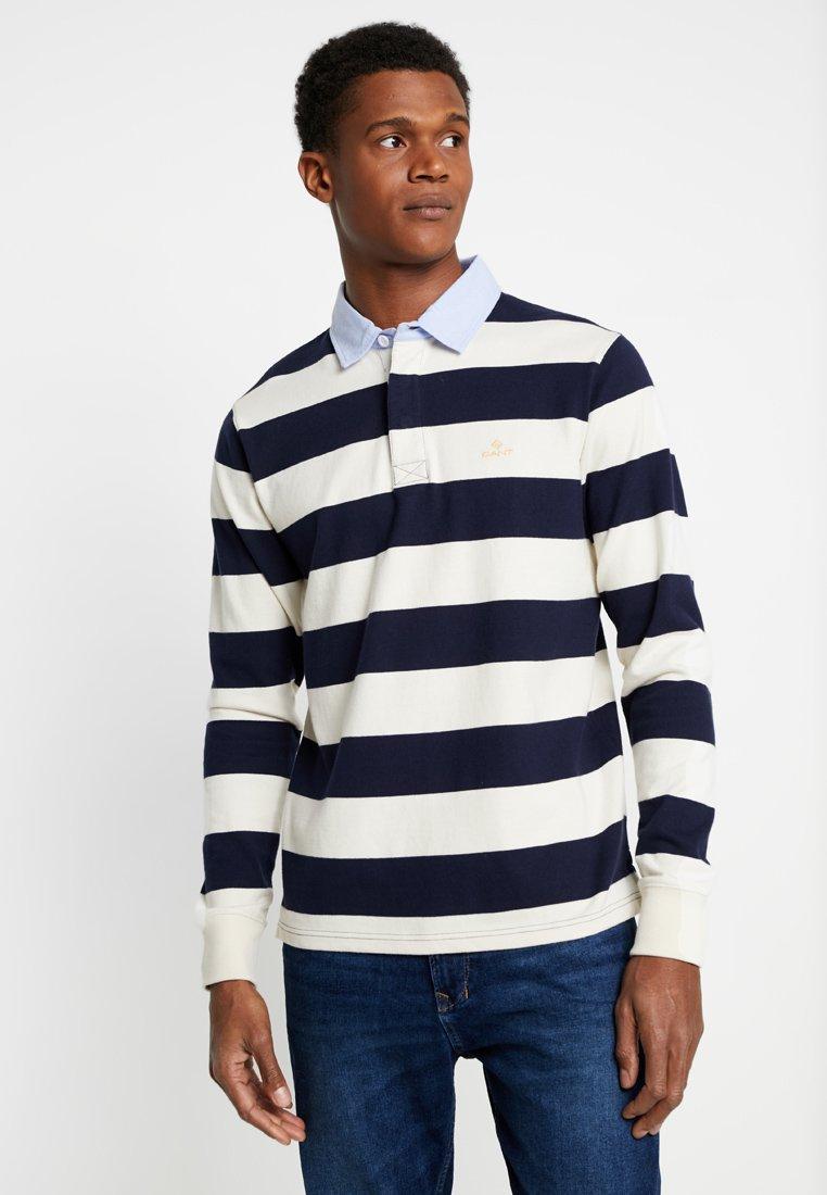 GANT - NEW HEAVY RUGGER - Polo - off-white/dark blue