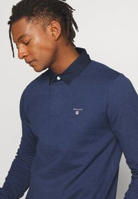 GANT - THE ORIGINAL HEAVY RUGGER - Piké - marine melange - 3