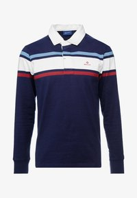 GANT - STRIPED CHEST HEAVY RUGGER - Polo - evening blue - 4