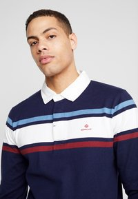 GANT - STRIPED CHEST HEAVY RUGGER - Polo - evening blue - 5