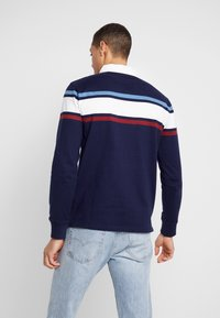 GANT - STRIPED CHEST HEAVY RUGGER - Polo - evening blue - 2