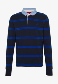 GANT - CONTRAST HEAVY RUGGER - Polo - evening blue