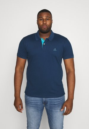PLUS CONTRAST COLLAR RUGGER - Polo - yankee blue