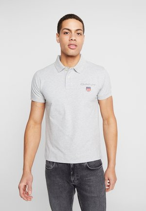 MEDIUM SHIELD RUGGER - Polo - light grey melange