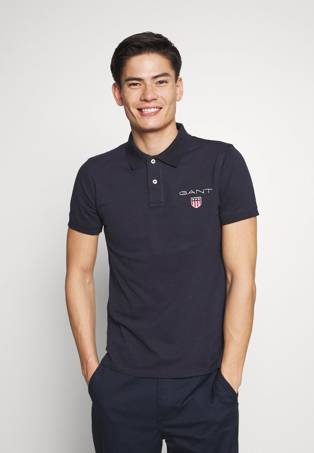 MEDIUM SHIELD RUGGER - Polo - evening blue