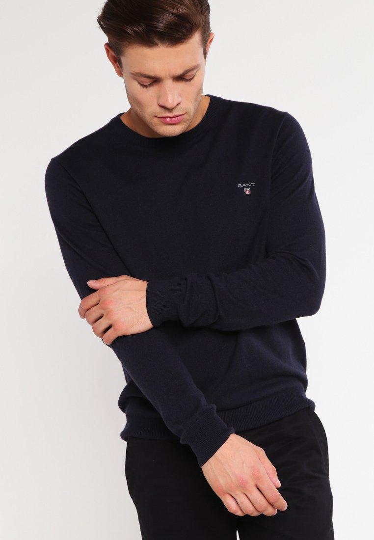 GANT - CREW - Stickad tröja - navy