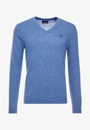 EXTRAFINE VNECK - Jersey de punto - stone blue melange