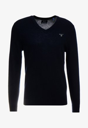 EXTRAFINE VNECK - Stickad tröja - marine