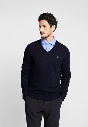EXTRAFINE VNECK - Pullover - marine