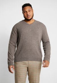 GANT - PLUS  - Jumper - dark hazelnut melange - 0