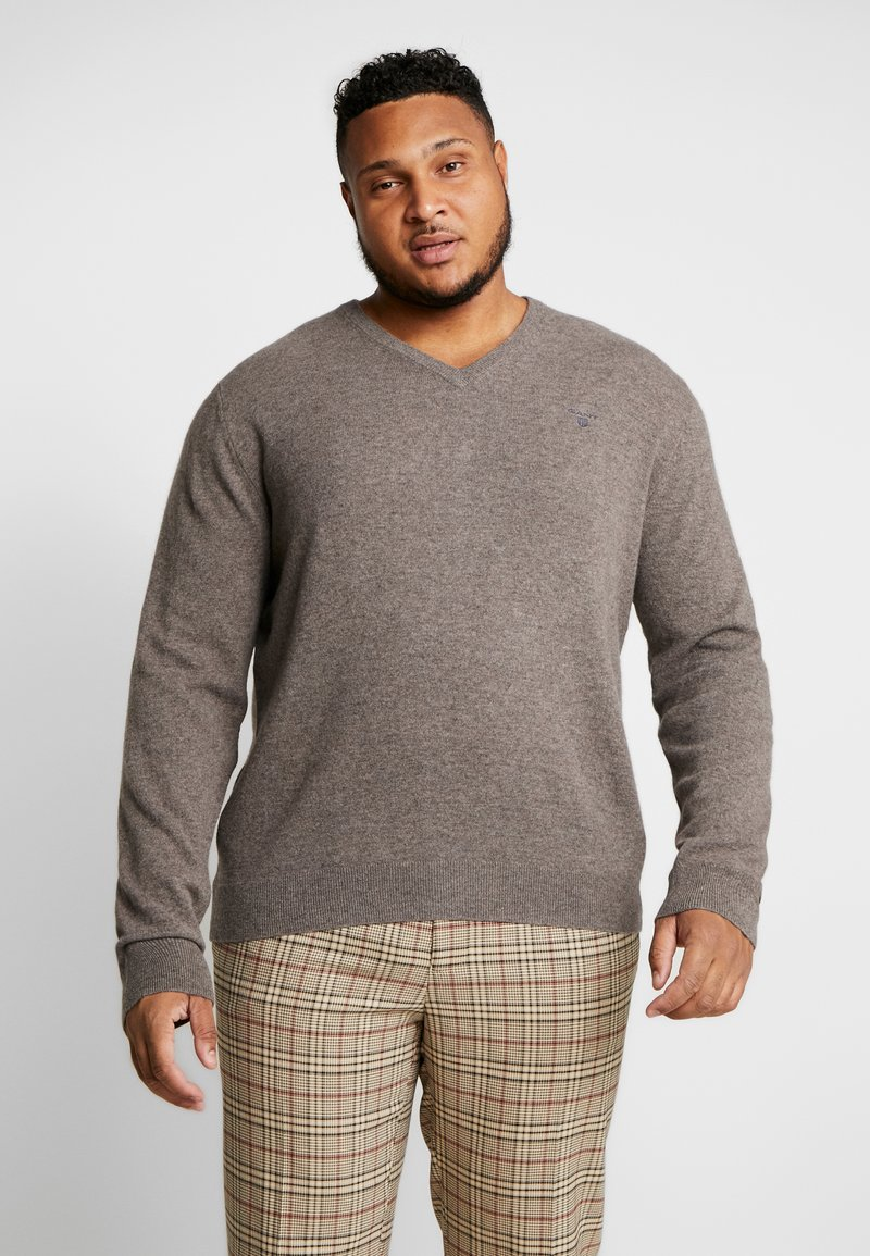 GANT - PLUS  - Jumper - dark hazelnut melange