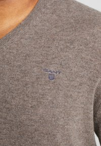 GANT - PLUS  - Jumper - dark hazelnut melange - 5