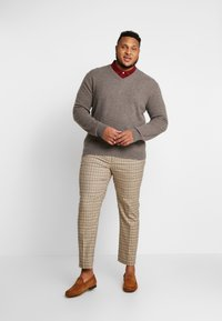GANT - PLUS  - Jumper - dark hazelnut melange - 1