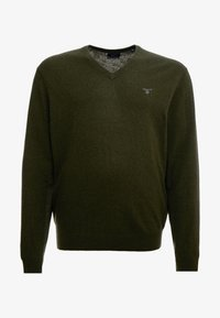 GANT - PLUS  - Svetr - field green - 4