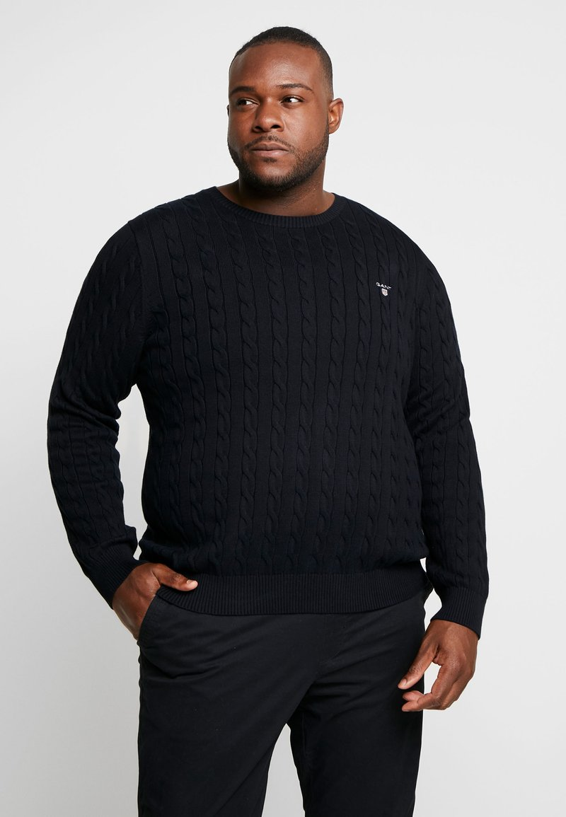 GANT - CABLE CREW - Sweter - black