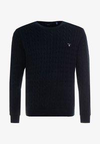 GANT - CABLE CREW - Sweter - black - 3