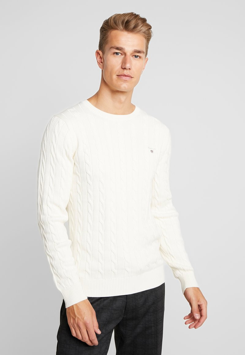 GANT - CABLE CREW - Strikkegenser - cream