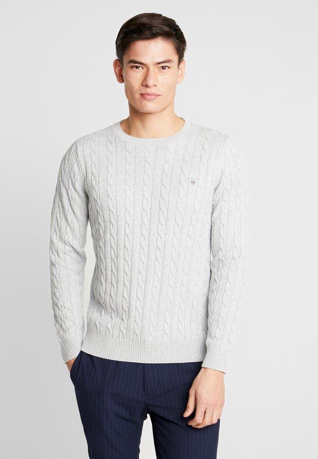CABLE CREW - Jersey de punto - light grey melange
