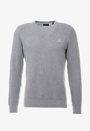 CREW - Stickad tröja - dark grey melange