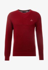 GANT - CREW - Sweter - crimson red - 3