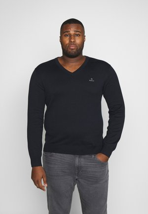 PLUS CLASSIC VNECK - Pullover - evening blue