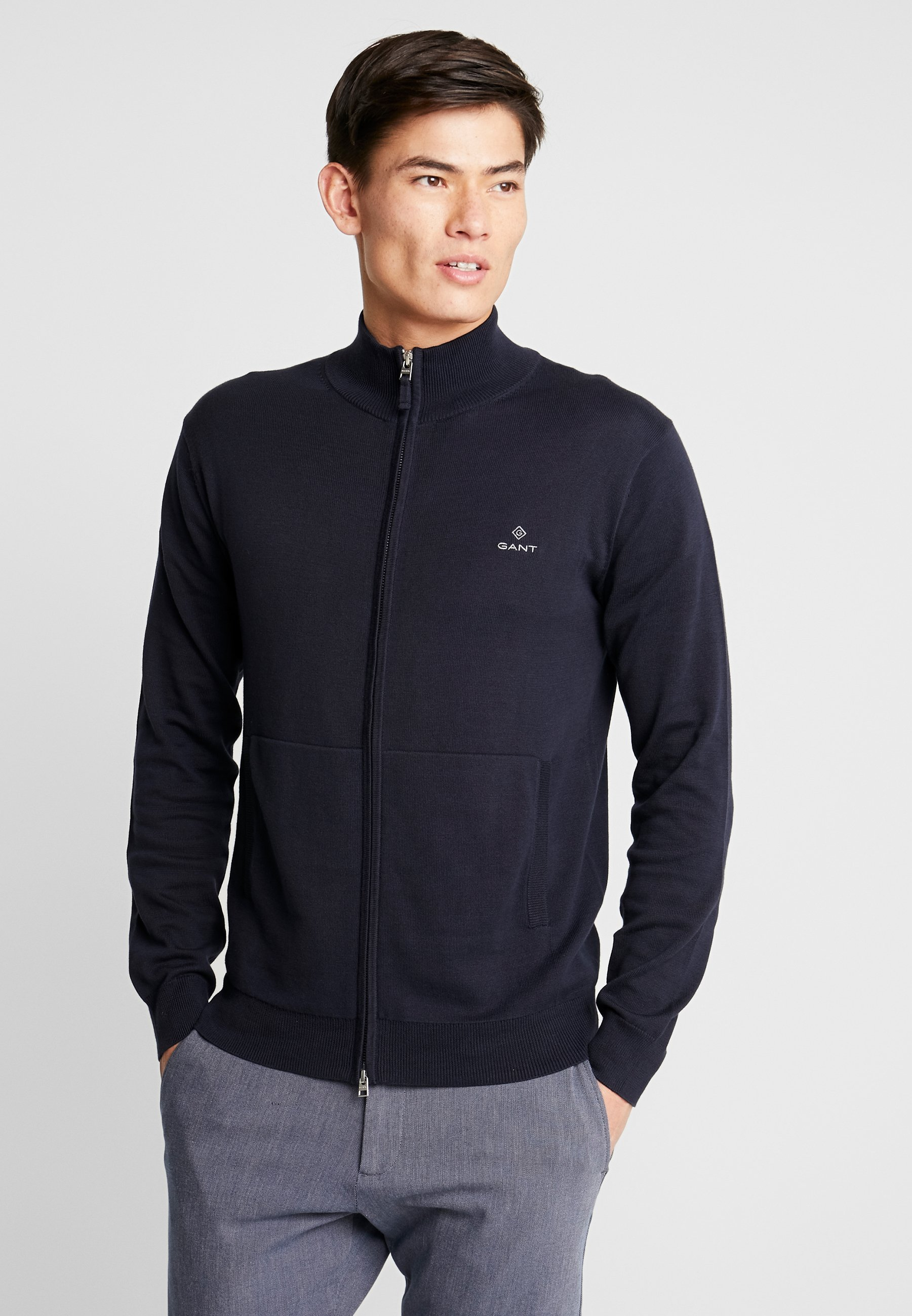 GANT CLASSIC ZIP CARDIGAN - Kardigan - evening blue