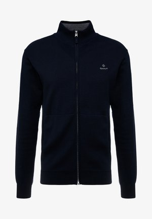 CLASSIC ZIP CARDIGAN - Chaqueta de punto - evening blue