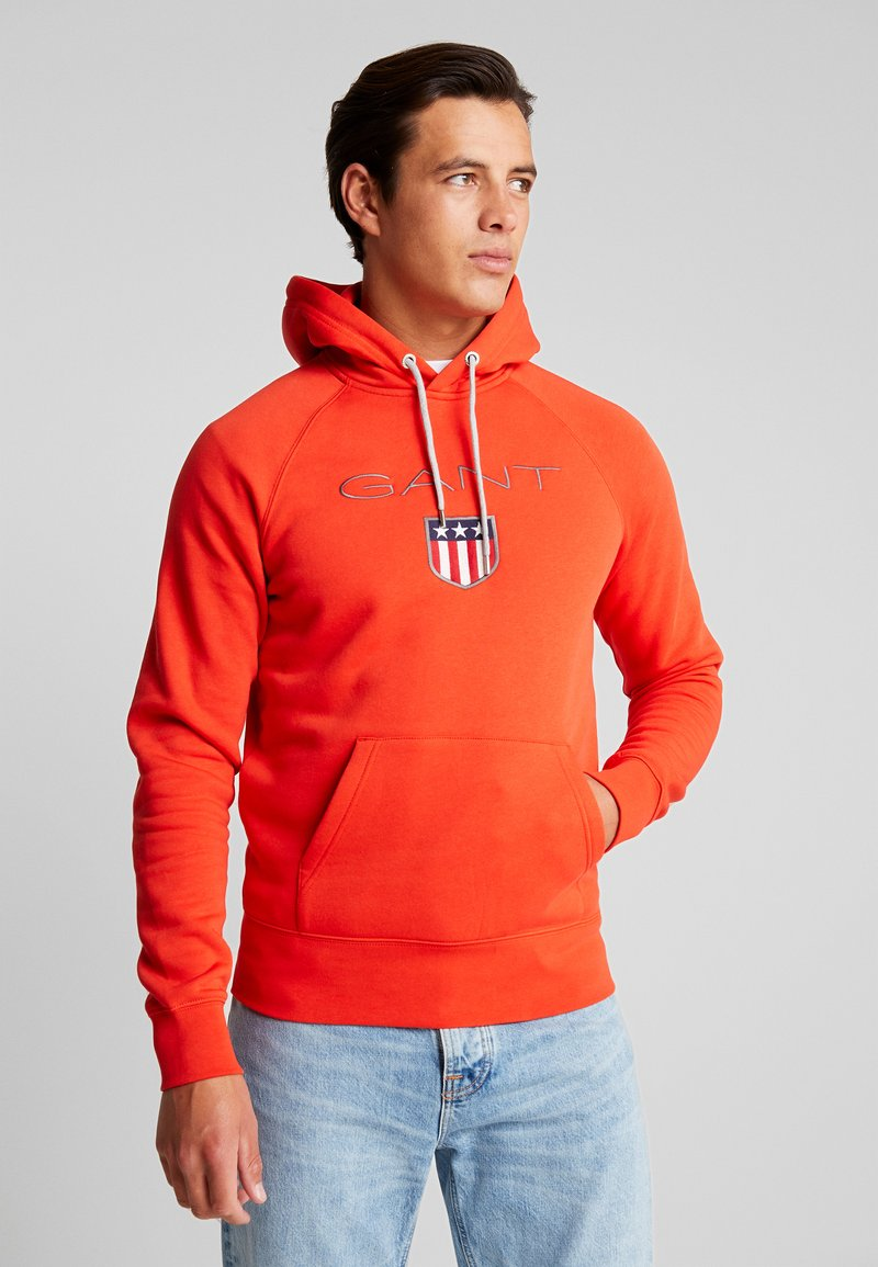 GANT - SHIELD HOODIE - Hoodie - blood orange