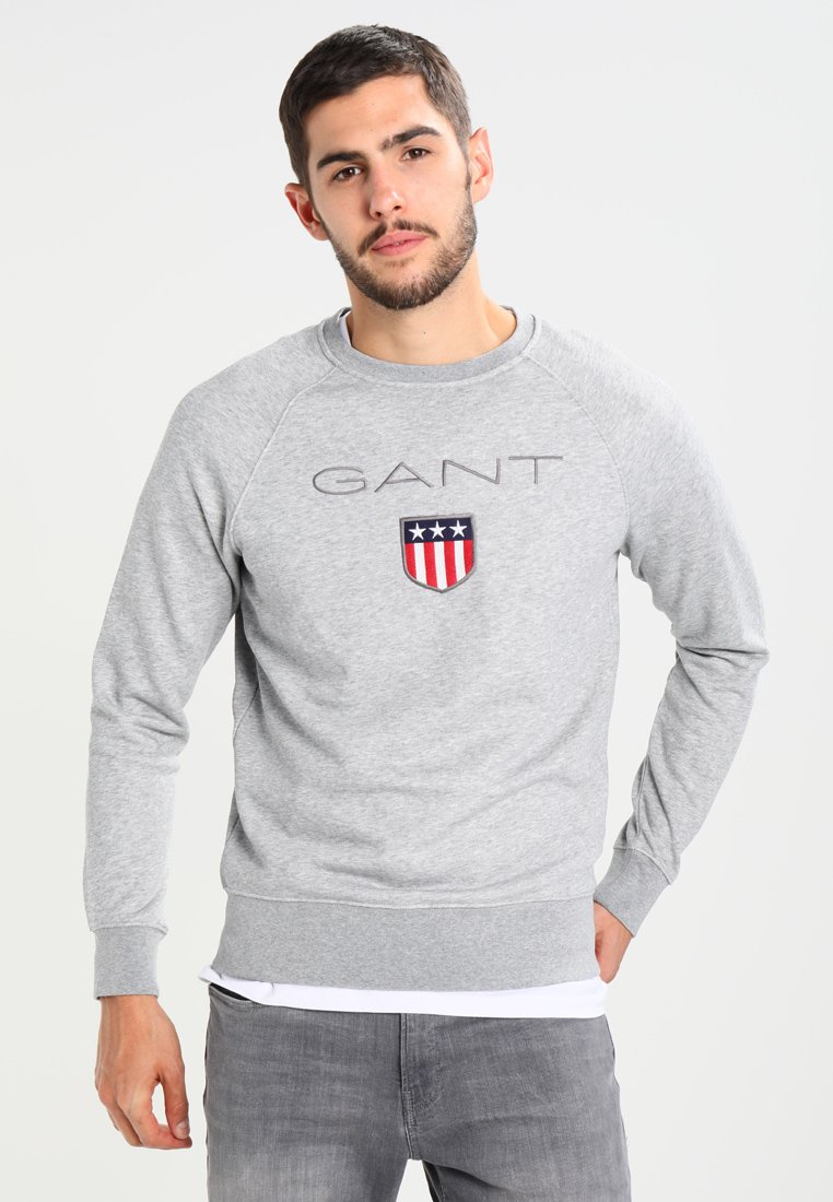 GANT - SHIELD C NECK - Sweatshirt - grey melange