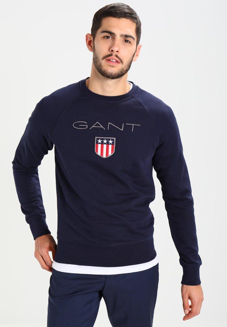 GANT - SHIELD C NECK - Sweatshirt - evening blue