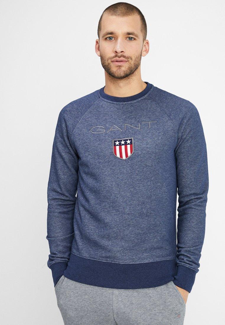 GANT - SHIELD C NECK - Sweatshirt - dark jeansblue melange