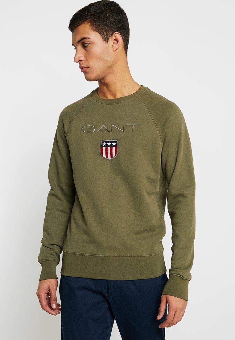 GANT - SHIELD C NECK - Sweatshirt - field green