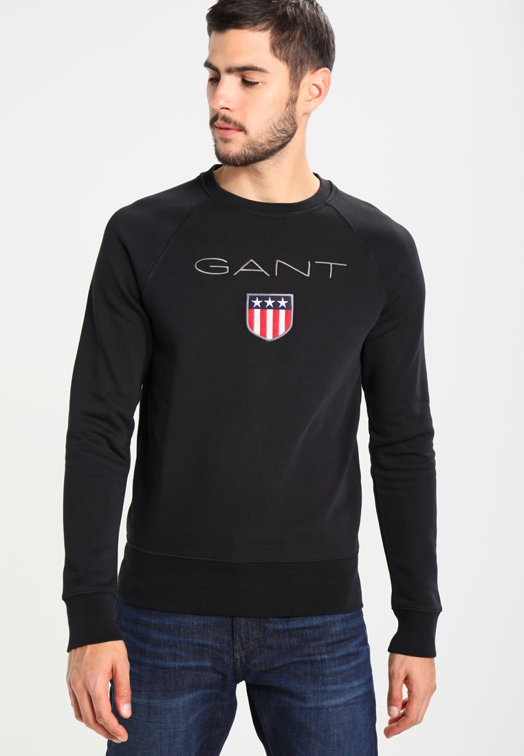 GANT - SHIELD C NECK - Sweatshirt - black