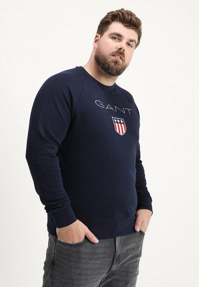 SHIELD C NECK - Sweatshirt - evening blue