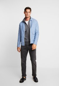 GANT - THE ORIGINAL FULL ZIP CARDIGAN - Felpa aperta - antracit melange - 1