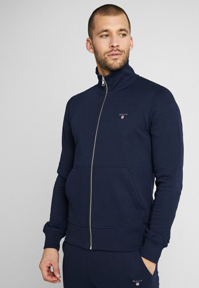 THE ORIGINAL FULL ZIP - Felpa aperta - evening blue