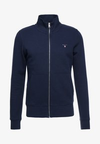 GANT - THE ORIGINAL FULL ZIP - veste en sweat zippée - evening blue - 4