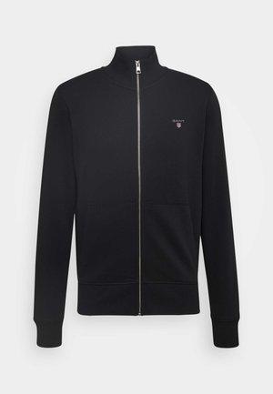 THE ORIGINAL FULL ZIP - veste en sweat zippée - black