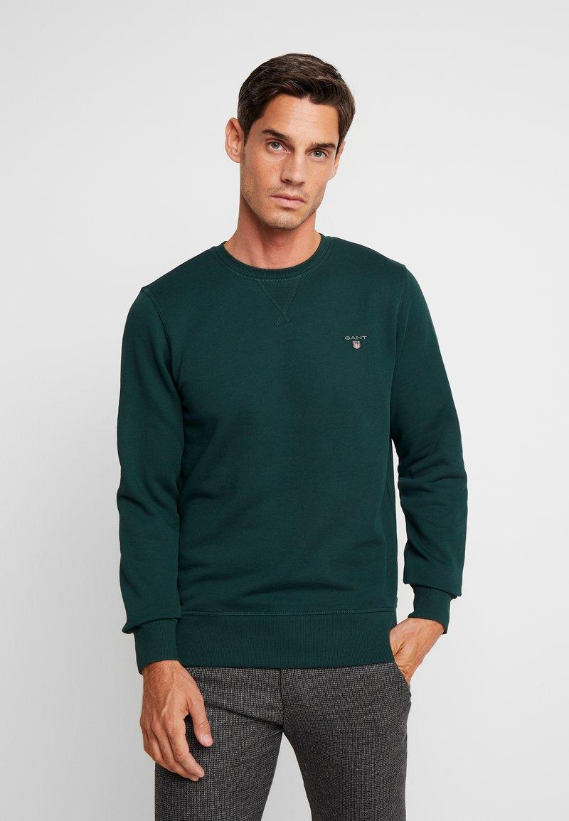 GANT - THE ORIGINAL C NECK  - Sweatshirt - tartan green