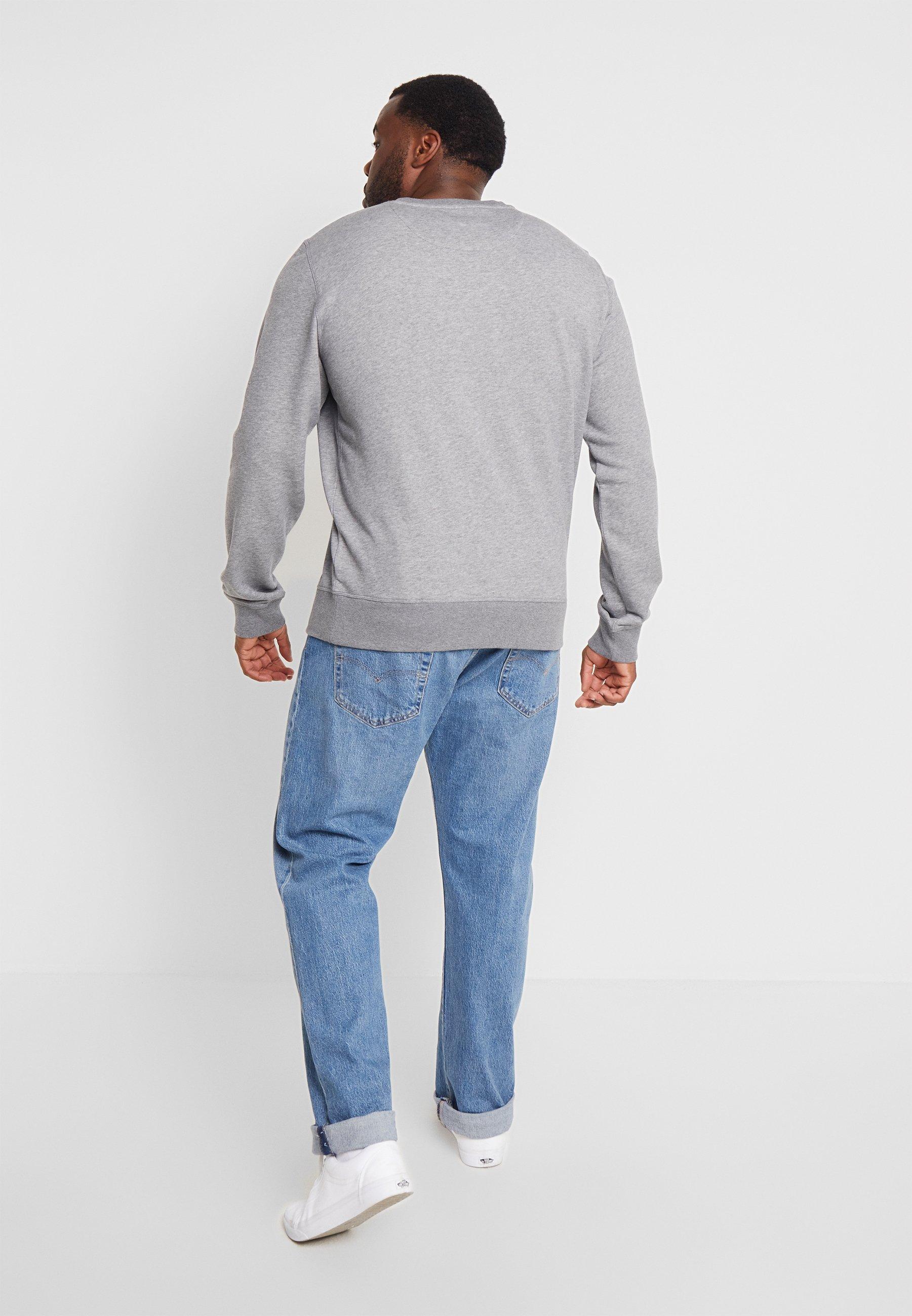 Grey Dark Original Melange The Gant C neckSweatshirt sthQCdxBr