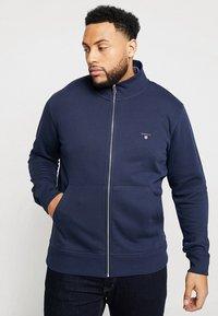 GANT - THE ORIGINAL FULL ZIP - Zip-up hoodie - evening blue - 0