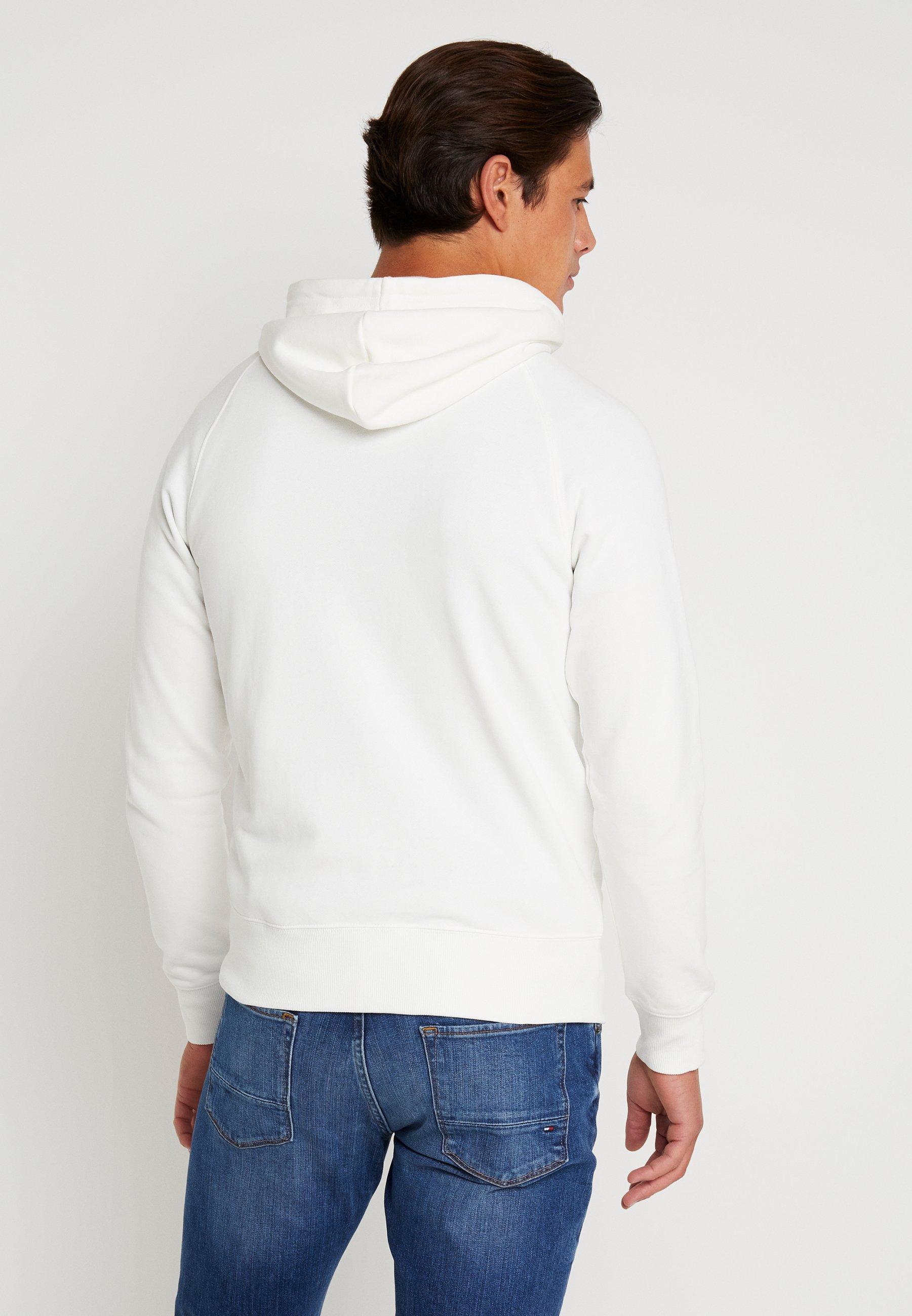 GANT STRIPE HOODIE - Bluza z kapturem - eggshell