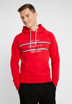 STRIPE HOODIE - Hoodie - bright red