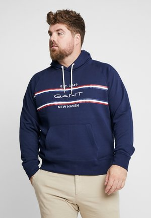 STRIPE HOODIE - Sweat à capuche - evening blue