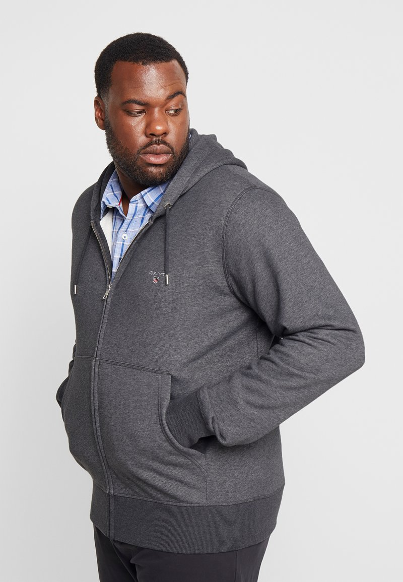 GANT - THE ORIGINAL FULL ZIP HOODIE - Sudadera con cremallera - antracit melange